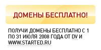 Отчет акции по раздаче доменов с 1 по 31 июля 2008 года