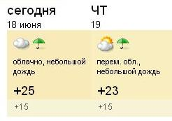 погода от weather.yandex.ru